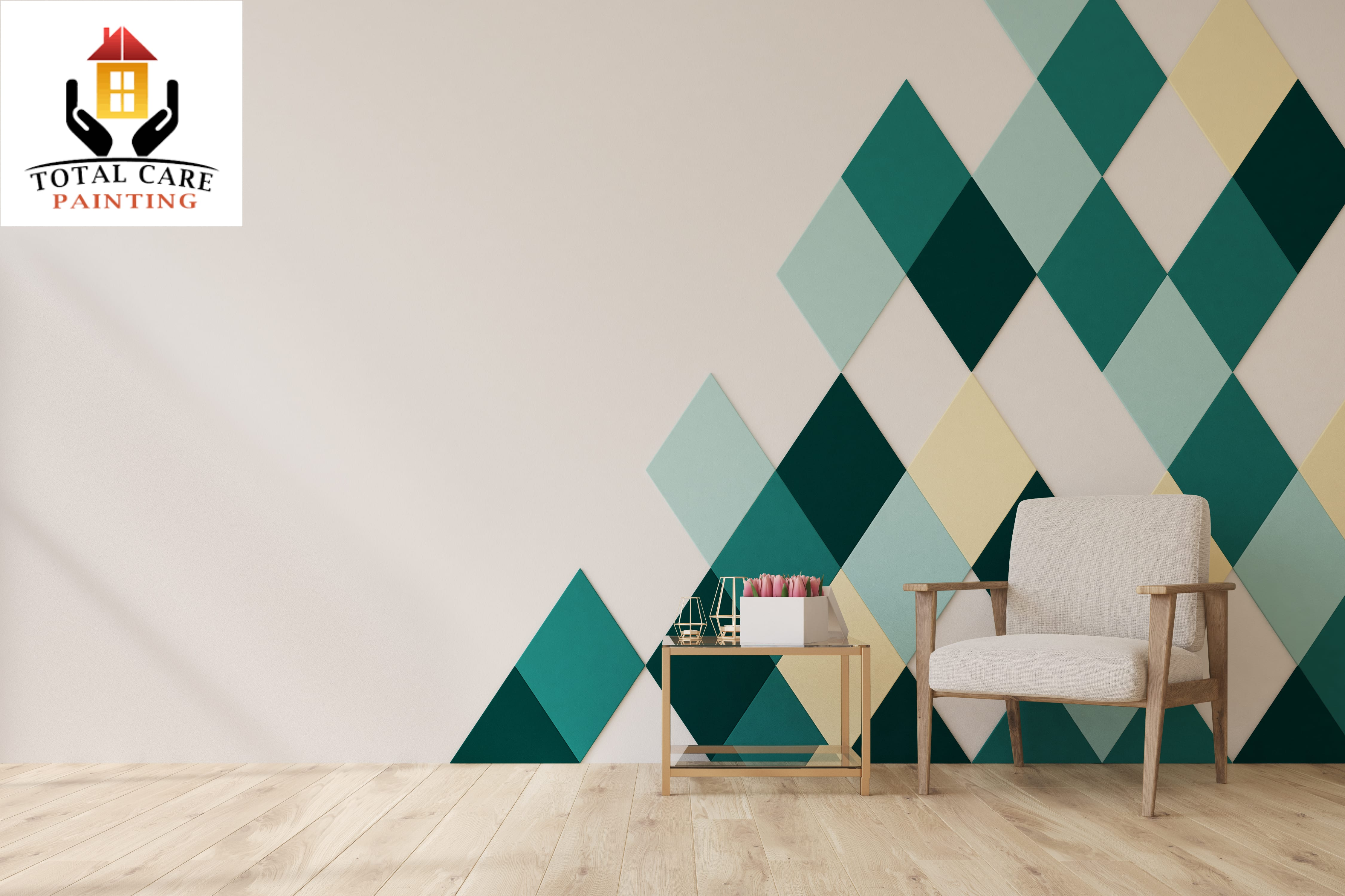Interior House Painting Patterned Wall